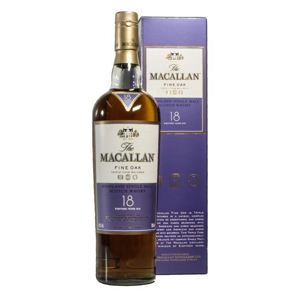 Macallan 18 years old, Triple Cask Matured, 43%